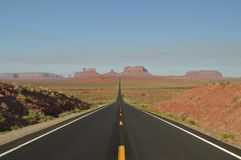 Forrest Point. Mille 13 Highway Going To Monument Valley. The Paradise of Geology royalty free stock photos