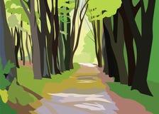 Forrest Trees Vector vert Photographie stock libre de droits