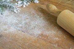 Forro de la comida de la Navidad y fondo abstractos el cocinar Foto de archivo libre de regalías