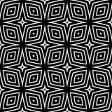 Forro geométrico do teste padrão sem emenda preto e branco fotos de stock royalty free