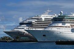 Forros do cruzeiro nos Bahamas Foto de Stock