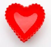 Forros do queque do coração Imagem de Stock