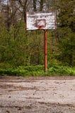 Forsaken basketball court Royalty Free Stock Photo