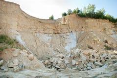 Forsaken clay quarry Royalty Free Stock Photo
