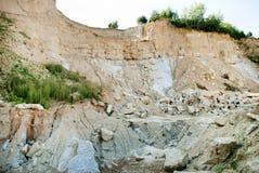 Forsaken clay quarry Royalty Free Stock Images