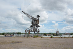 Forsaken crane on port Stock Photography