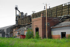 Forsaken factory. This strange place is located in Shawinigan, Canada. Camera: Nikon D50 Royalty Free Stock Photos