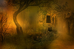 Forsaken. Image of a ruined mansion Royalty Free Stock Photography