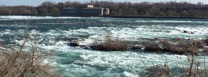 Forsar av Sten Lawrence River Arkivfoto