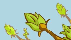 Forsar för barn för tecknad filmvår nya gröna Royaltyfri Fotografi