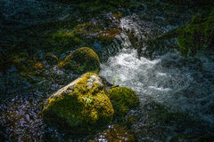 Forsar på Manzanita liten vik, Lassen nationalpark Arkivfoto