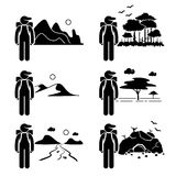 Forscher Adventure Traveler Backpacker Stockbild