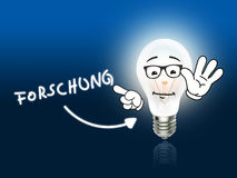 Forschung Bulb Lamp Energy Light blue Stock Images
