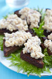 Jewish appetizer with herring Stock Photography
