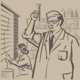 Forska för kemister Arkivbild
