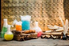 Forska nya kemiska reaktioner som baseras på gamla recept Arkivbild