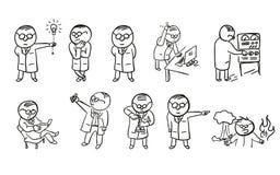 forskare royaltyfri illustrationer