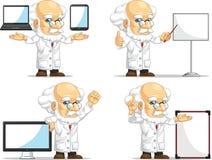 Forskare eller professor Customizable Mascot 14 Arkivbild
