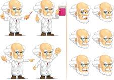 Forskare eller professor Customizable Mascot 11 Arkivbild
