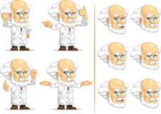 Forskare eller professor Customizable Mascot 12 Arkivbilder