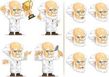 Forskare eller professor Customizable Mascot 7 Arkivbilder