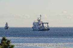Forskare för hav för forskningskyttel i vråkfjärd Royaltyfria Bilder