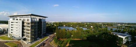 Forskning- och innovationbyggnad, universitet av Thailand Royaltyfria Foton