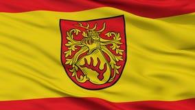 Forst Lausitz stadsflagga, Tyskland, Closeupsikt royaltyfri illustrationer