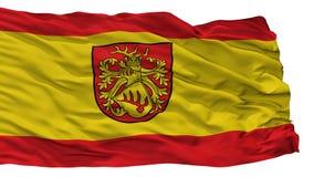Forst Lausitz stadsflagga, Tyskland som isoleras på vit bakgrund royaltyfri illustrationer