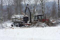 Forstwirtschaftfahrzeug Stockfotografie