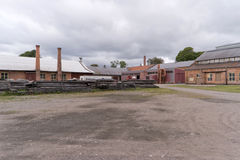 Forsvik memorável industrial Bruk em Forsvik, Suécia Fotos de Stock Royalty Free