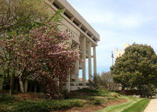 Forsyth County Hall of Justice in Winston-Salem, North Carolina. Forsyth County Hall of Justice in downtown Winston-Salem, North Carolina on a spring day royalty free stock photography