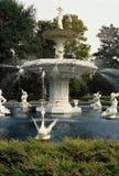Forsyth Fountain. Detail of fountain in Forsyth Park in Savannah, Georgia stock photos