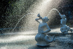 Forsyth fountain. Detail of Forsyth fountain in Forsyth Park, Savannah, GA, USA royalty free stock photo