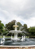 Forsyth Fountain Under Cloudy Skies stock images