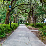 Forsyth-Park in der Savanne, GA Stockfoto