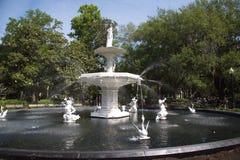 Forsyth Park Fountain stock photo