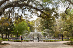 Forsyth Park and Fountain in Historic Savannah royalty free stock images