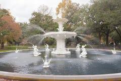 Forsyth Park Fountain historic Savannah Georgia US stock images