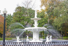 Forsyth Park Fountain historic Savannah Georgia US Stock Image