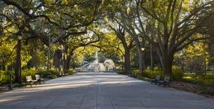 Forsyth Park fountain, Savannah GA Stock Photo