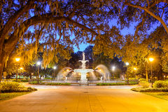Forsyth Park in Savannah, GA Stock Image
