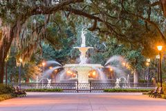 Forsyth Park, Savannah, Georgia royalty free stock photo