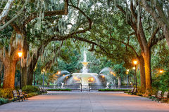 Forsyth Park in Savannah, Georgia. Savannah, Georgia, USA at Forsyth Park Fountain Royalty Free Stock Image