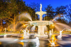 Forsyth Park in Savannah Georgia Royalty Free Stock Image