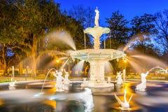 Forsyth park w sawannie Georgia Obraz Royalty Free