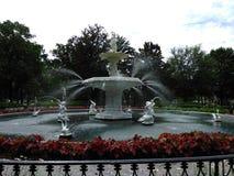 Forsythe-Park-Brunnen Lizenzfreie Stockfotografie