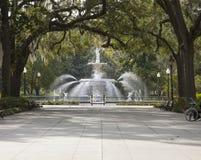 Forsythe Park, Savannah, Georgia royalty free stock image
