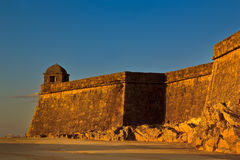 The fort. An old fort and a blue sky Royalty Free Stock Photos