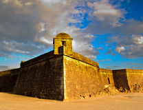 The fort. An old fort and a blue sky Stock Images